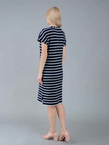 Арт.23005-2. Платье женское, серия Сорренто, цвет океан, спинка