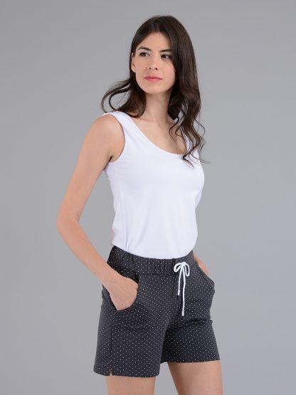 Темно-серые женские шорты