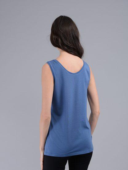 Майка женская, синяя, спинка